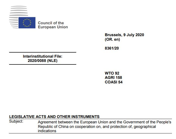 EU and China Agreement