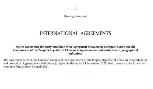 CNIP Intl Agreements
